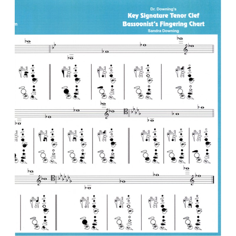 Bassoon Tenor Clef Key Signature Fingering Chart