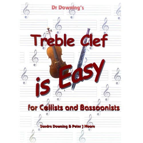 Treble Clef is Easy for Cello or Bassoon